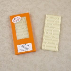 Tablettes de chocolat blanc