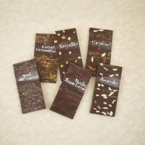Tablettes gourmandes chocolat noir