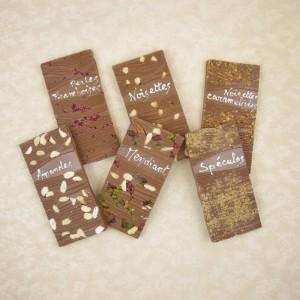 Tablettes gourmandes chocolat lait